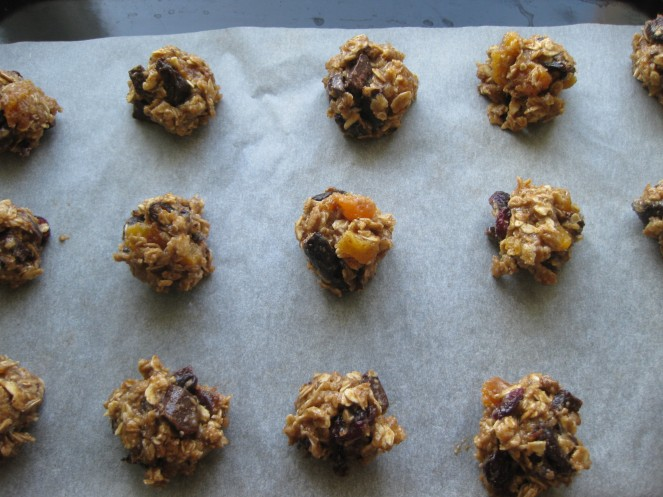Healthier Oatmeal Chocolate Chip Cookies before...