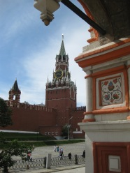 The famous Spasskaya tower of the Kremlin