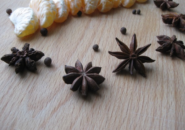 tangerines and star anise
