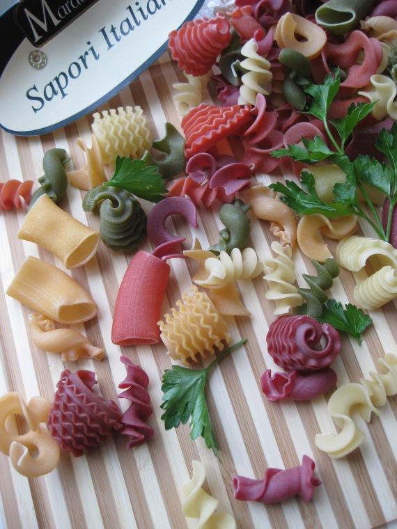 Italian multicolour pasta