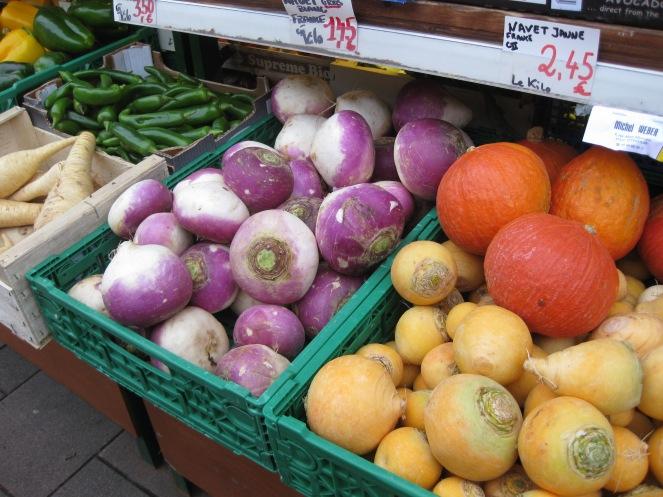 Vegetables in rue des Bouchers