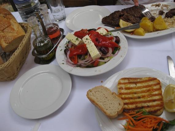 Cheese saganakii + Greek salad