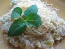 Risotto con zucchine (Risotto with zucchini / courgettes)