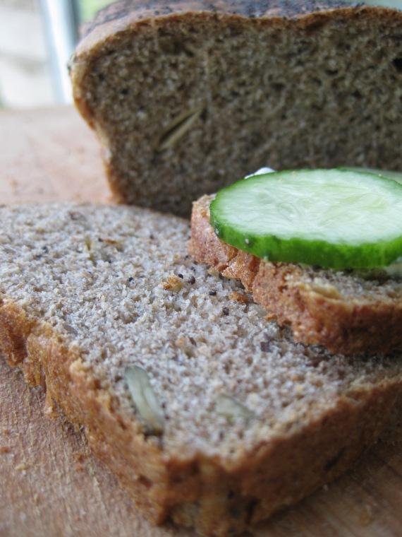 Dan Lepard's seeded rye and wheat loaf