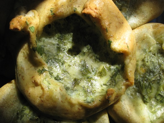 Khachapuri with Herbs and Cheese