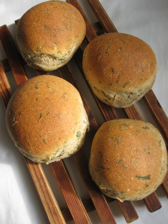 Overnight Soft Herb Rolls from www.foodgal.com