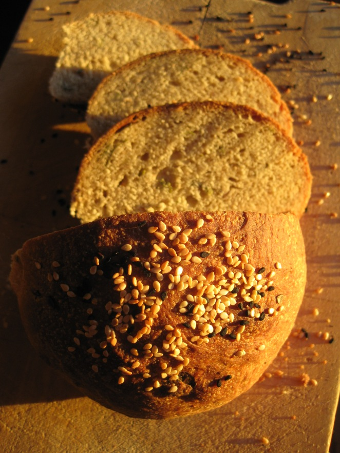 Dan Lepard's green onion and sage loaf from www.guardian.co.uk