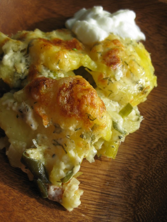 Creamy Cheese Leek and Potato Bake from www.nigella.com