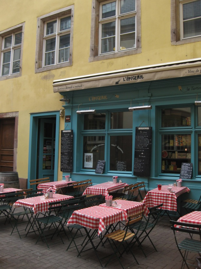 A cafe in Strasbourg