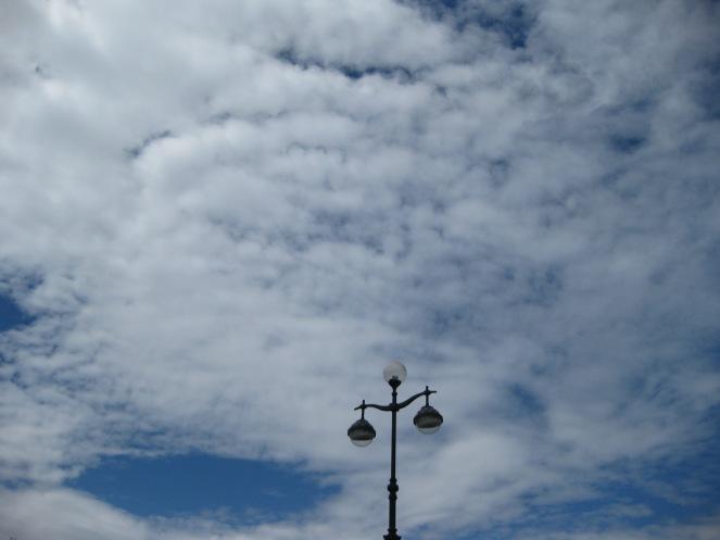 Sky on Krestovsky island