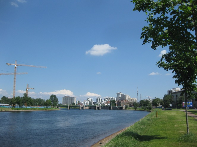 Malaya Nevka River from Lazarevsky Bridge