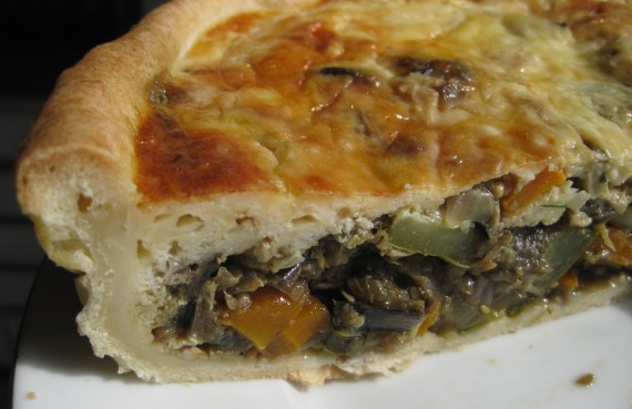 Roasted Vegetable Deep Tart from thevicardiedlaughing.blogspot.com
