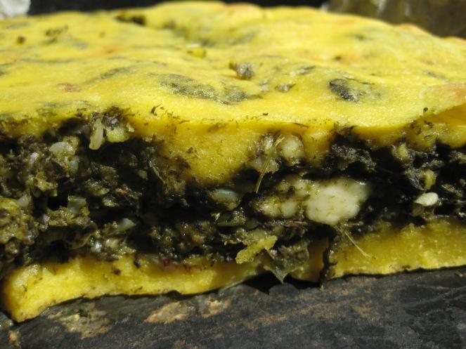 Blatsaria me kalambokalevro or Cornmeal Greens Pie from Epirus from www.dinanikolaou.gr