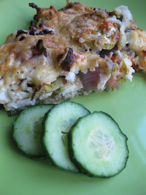 zucchini and couscous cheesy bake