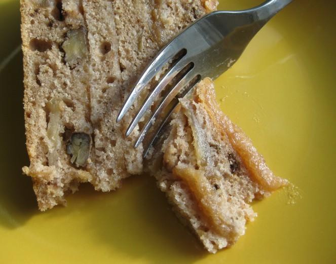 Applesauce Walnut Cake from heatherchristo.com