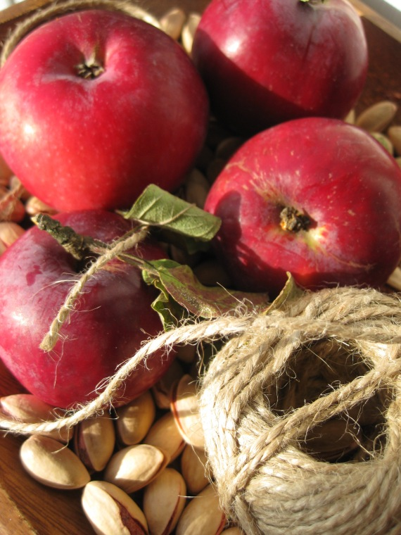 Super-ripe apples from dacha