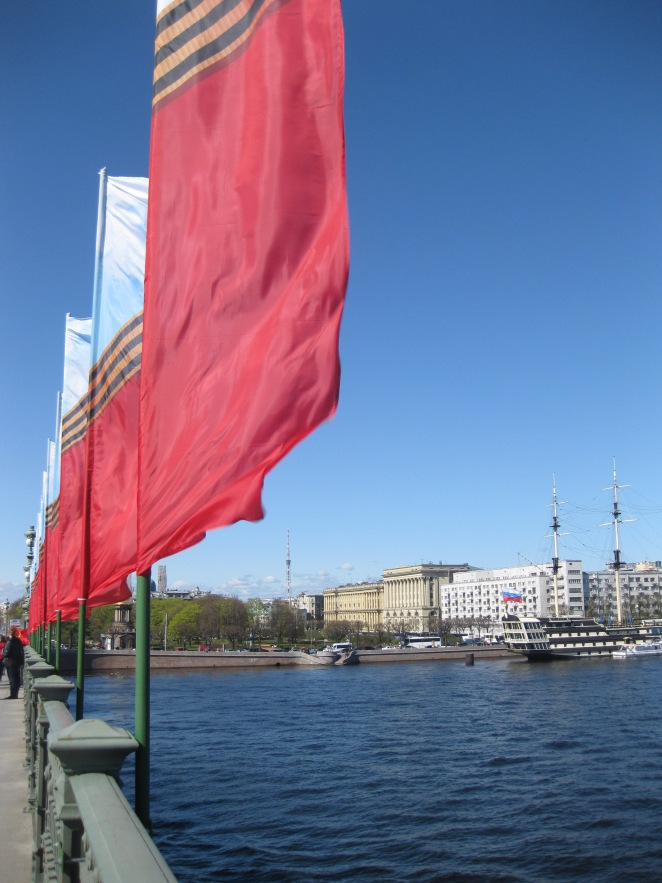 Victory day in St Petersburg