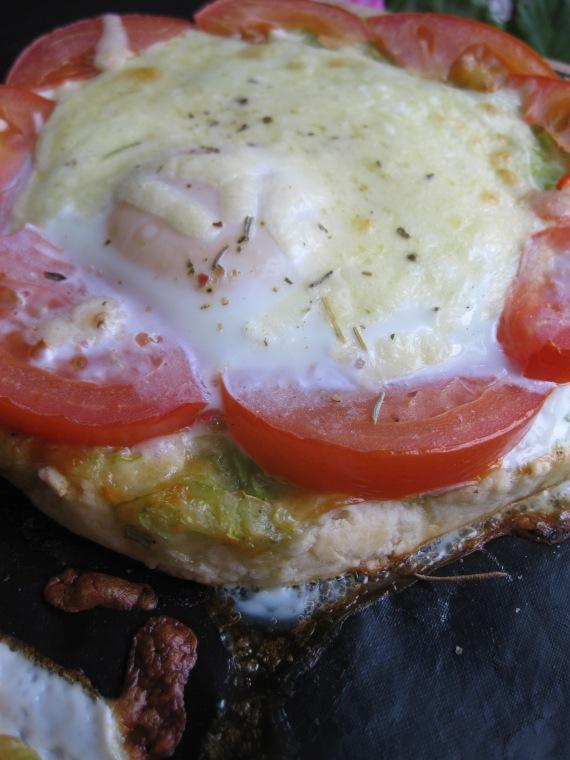 Zucchini, Tomato and Egg Tart from www.tasteandtellblog.com