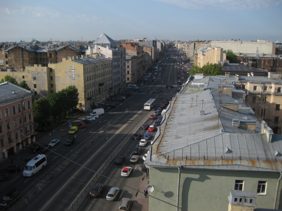 St Petersburg from roof of Etazhi
