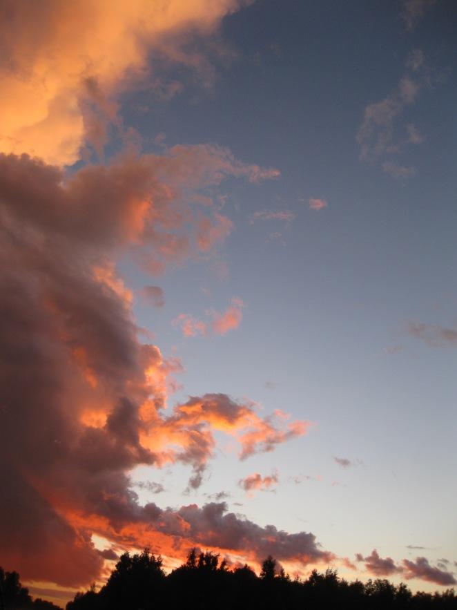 late August sky