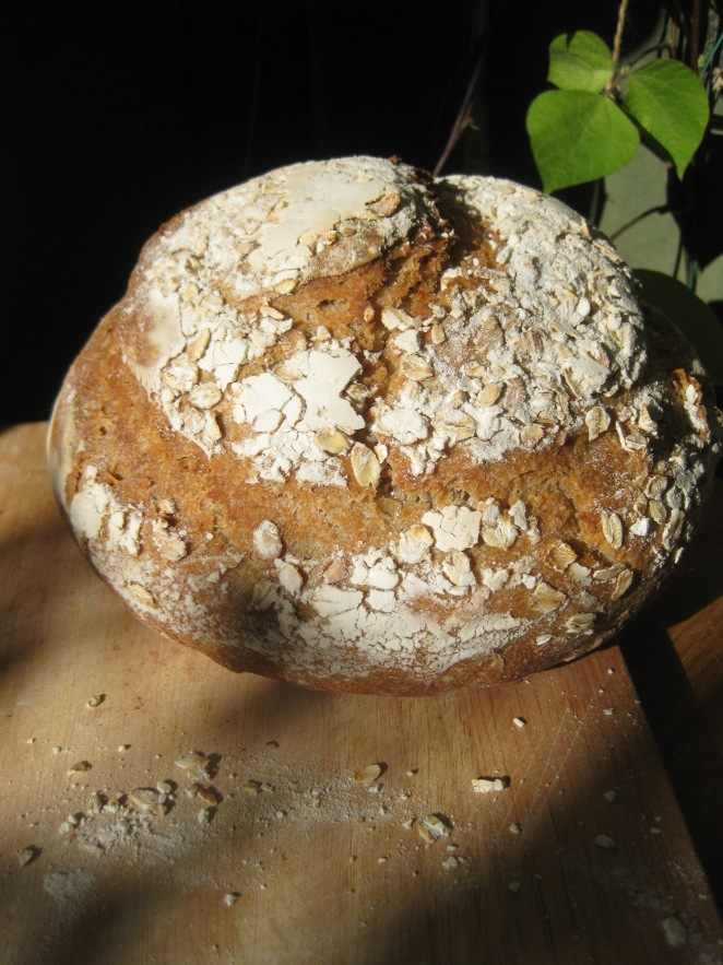 Rolled Oat Sourdough Boule from www.ashaggydoughstory.com