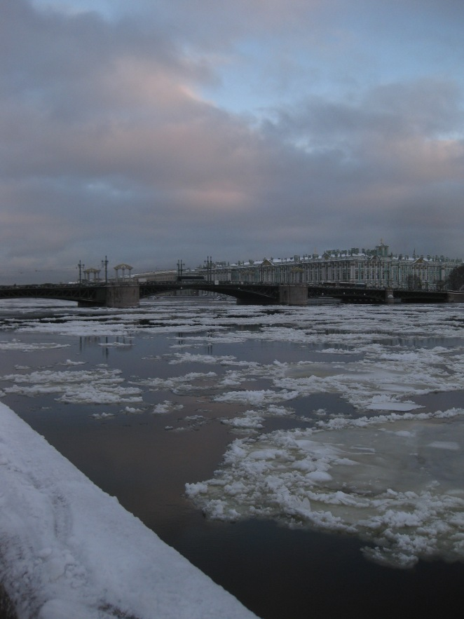 Wintry Icy St Petersburg