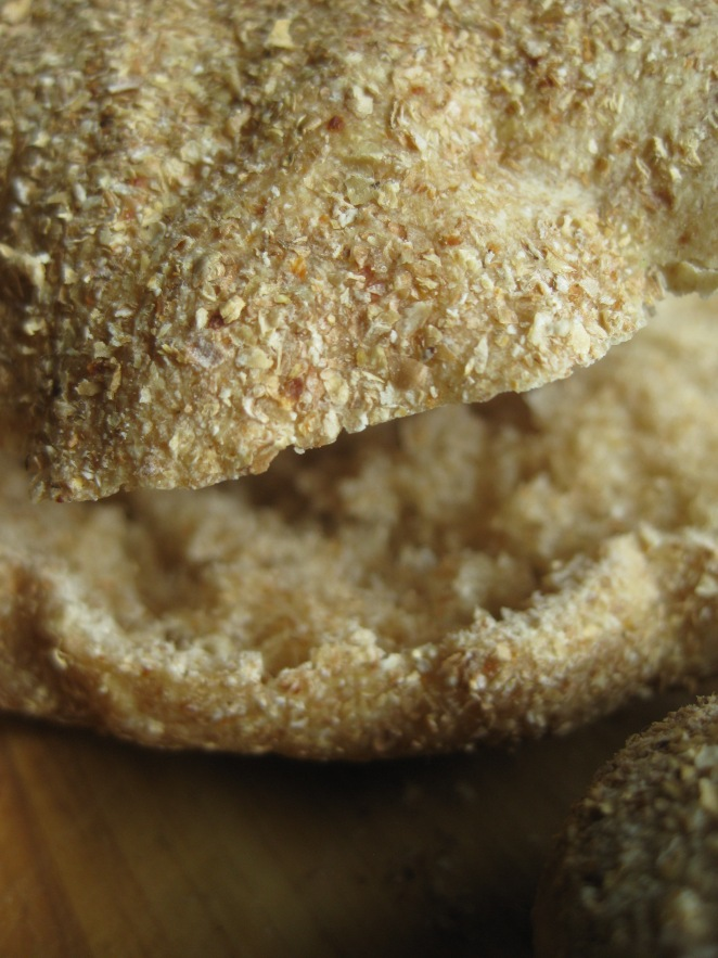 Egyptian Pita with Baked Falafel