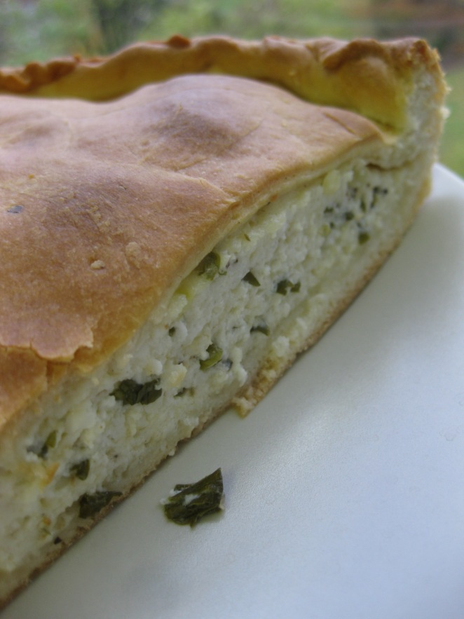 Tvorog Pie with Greek Horiatiko Pastry